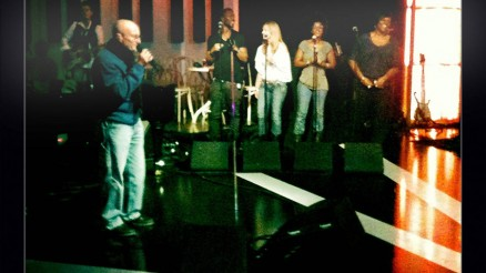 Singing with Phil Collins on Later