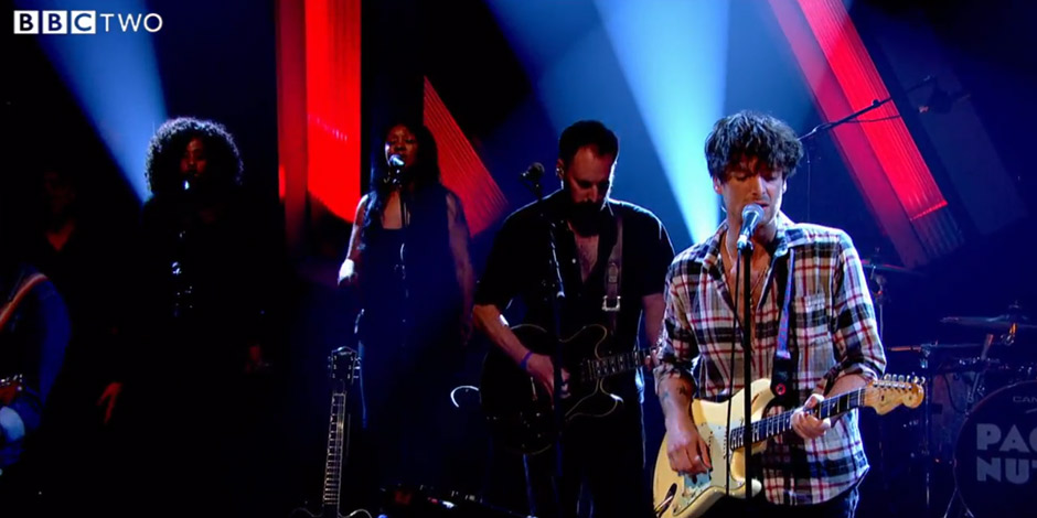 Singing BVs for Paulo Nutini on Later with Jools Holland on BBC 2
