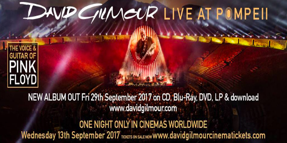 David Gilmour, Live in Pompeii, One night only, 13th September
