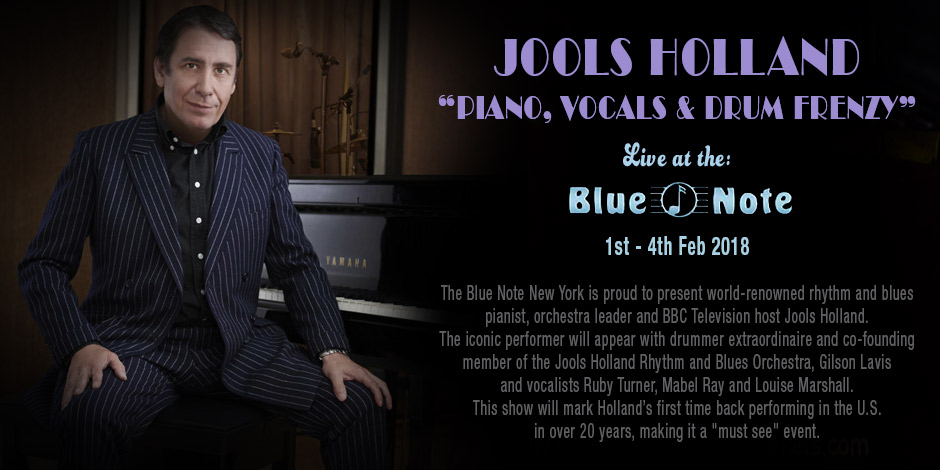 "Jools Holland ""Piano, Vocals & Drum Frenzy"""